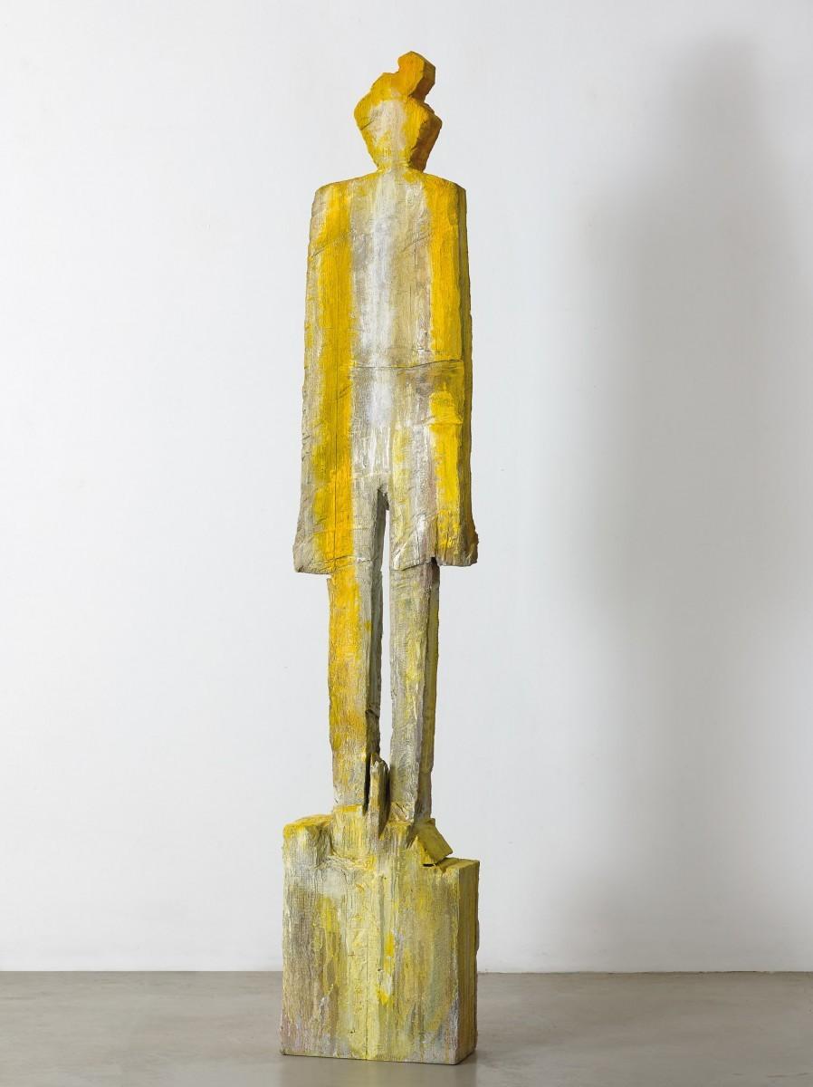 Haim Senyor, 2021, Painted Wood, h-183 cm, 28,500 ILS (1)