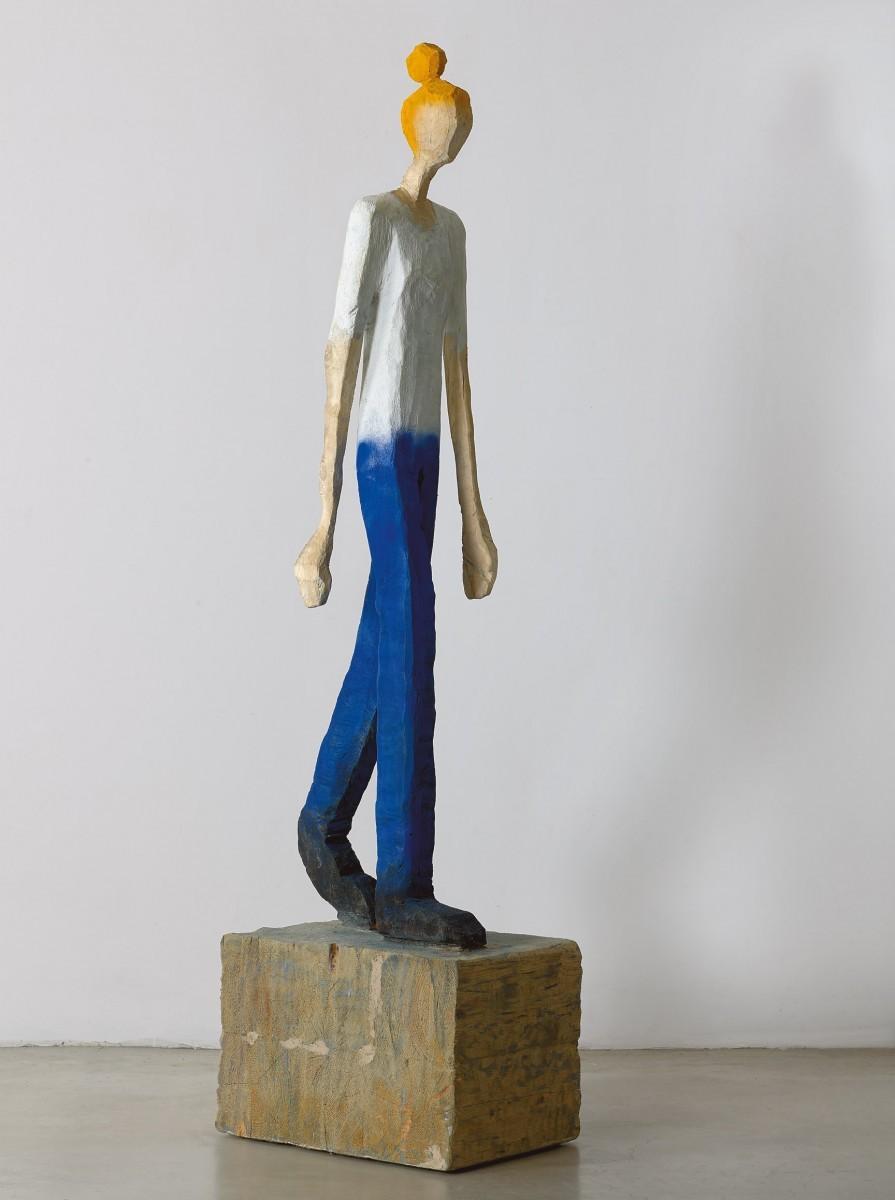 Haim Senyor, 2020, Painted Wood, h-192 cm, 38,500 ILS (1)