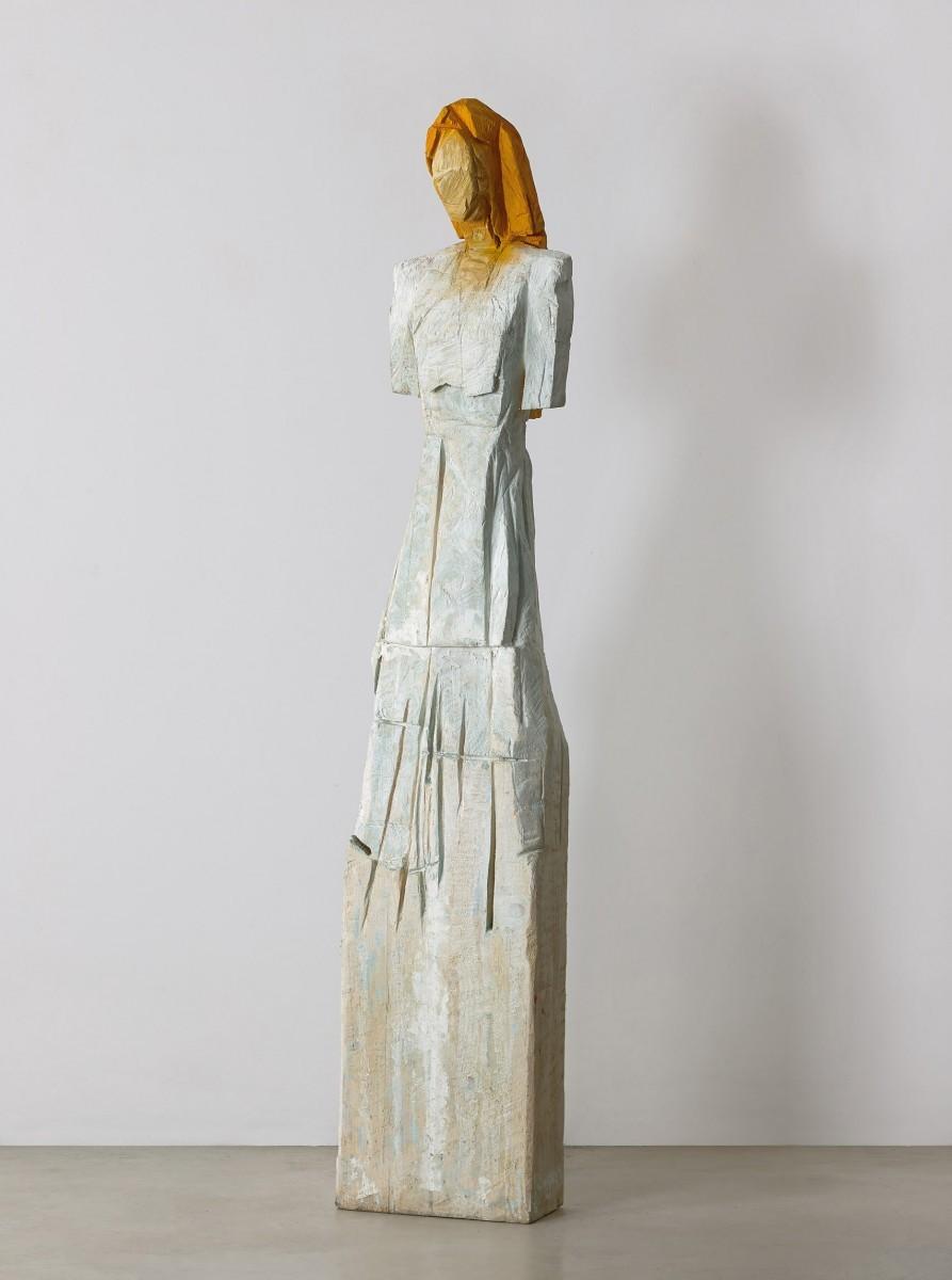 Haim Senyor, 2020, Painted Wood, h-189 cm, 40,000 ILS 1) (1)