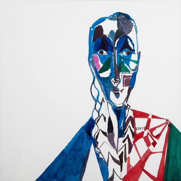 09 Lothar Hempel, Berlin Vision (Genius), 2013, Ink and watercolors on paper, 41x41 cm-600x600