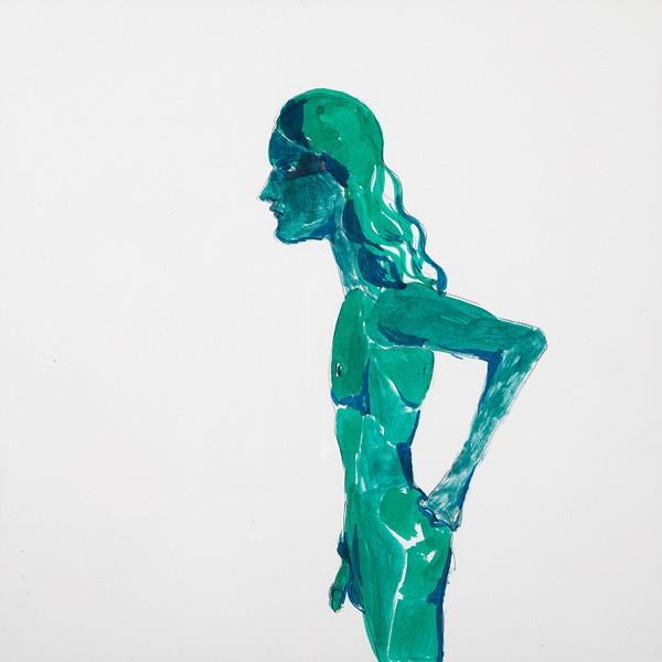 10 Lothar Hempel, Berlin Vision (Performer), 2013, Ink and watercolors on paper, 41x41 cm-600x600