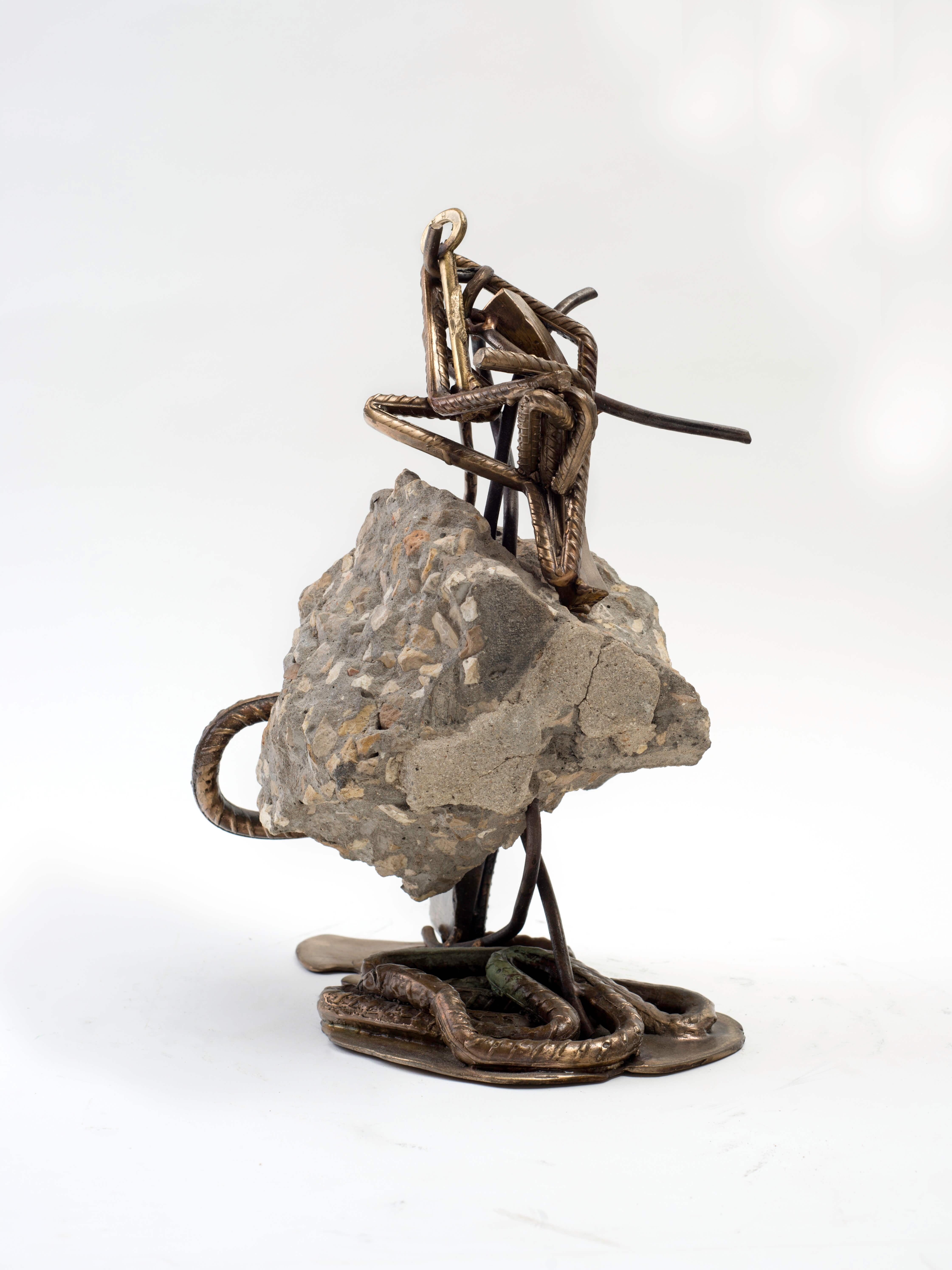 1230_Drora Dominey, Tangle, 2015, Bronze, iron, concrete and building debris, 37x25x25 cm (3)-4483x5977