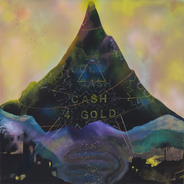 1332_Sharona Eliassaf, Cash 4 Gold Gold for Cash, 2015, Oil and Spray on canvas, 120x120 cm-600x600