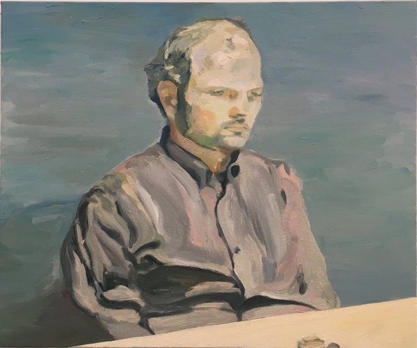 1405_8 Etay Kaminer, Untitled, 2017, Oil and acrylic on canvas, 72x84 cm-600x502