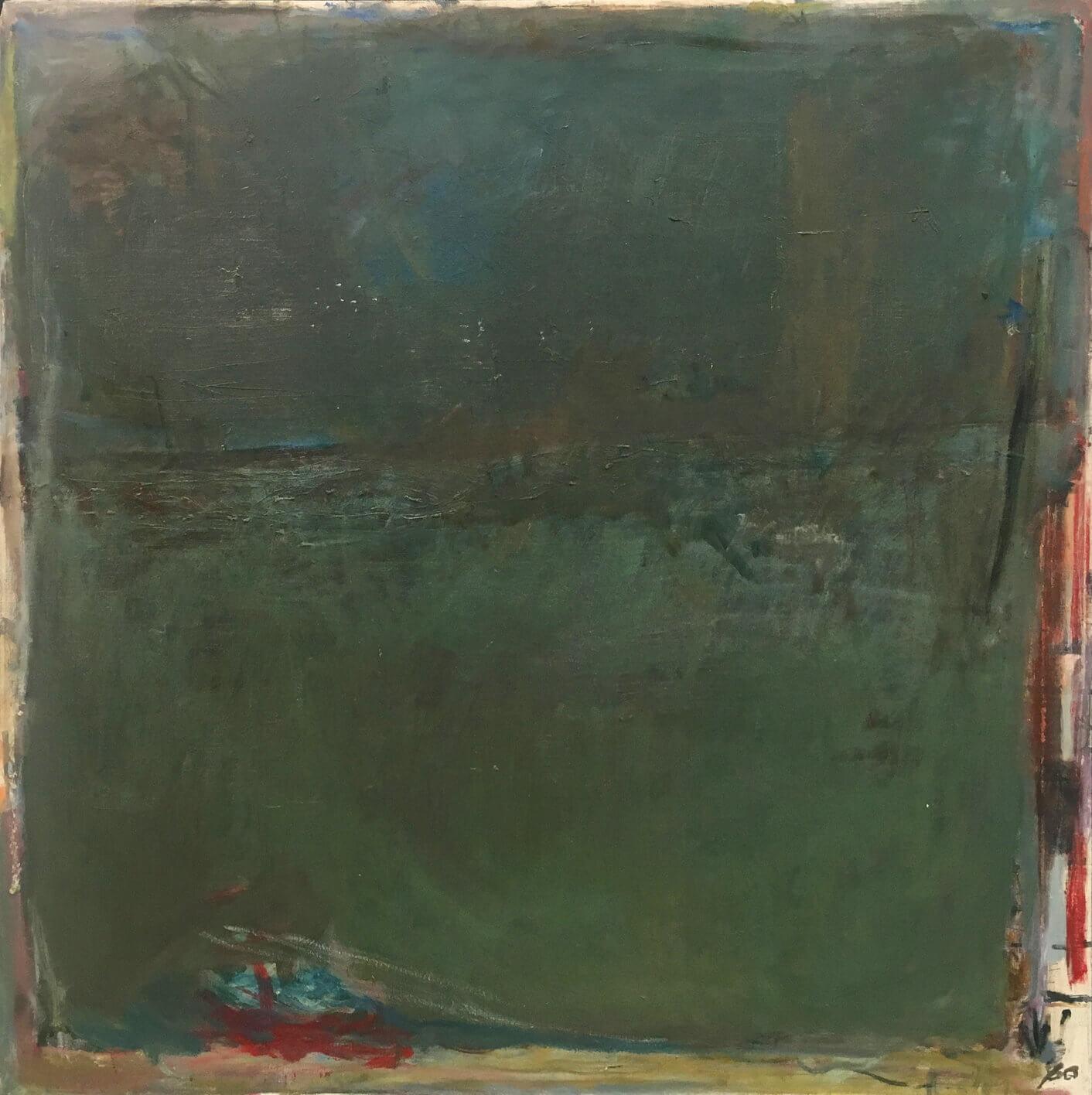 1474_Yehezkel Streichman, 1980, Oil on canvas, 100x100 cm 12,500$-1412x1416