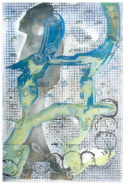 14_Darren Goins, 050r, 2015, acrylic, urethane, nylon, rubber on etched acrylic panel, 183x122 cm-409x600