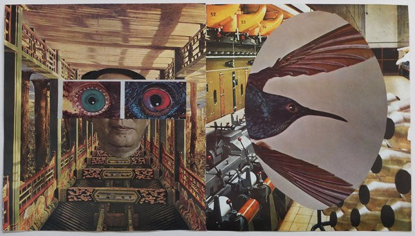 1513_Gilad Kahana, Every Thread is Silent, 2015, Collage, 23.5x41