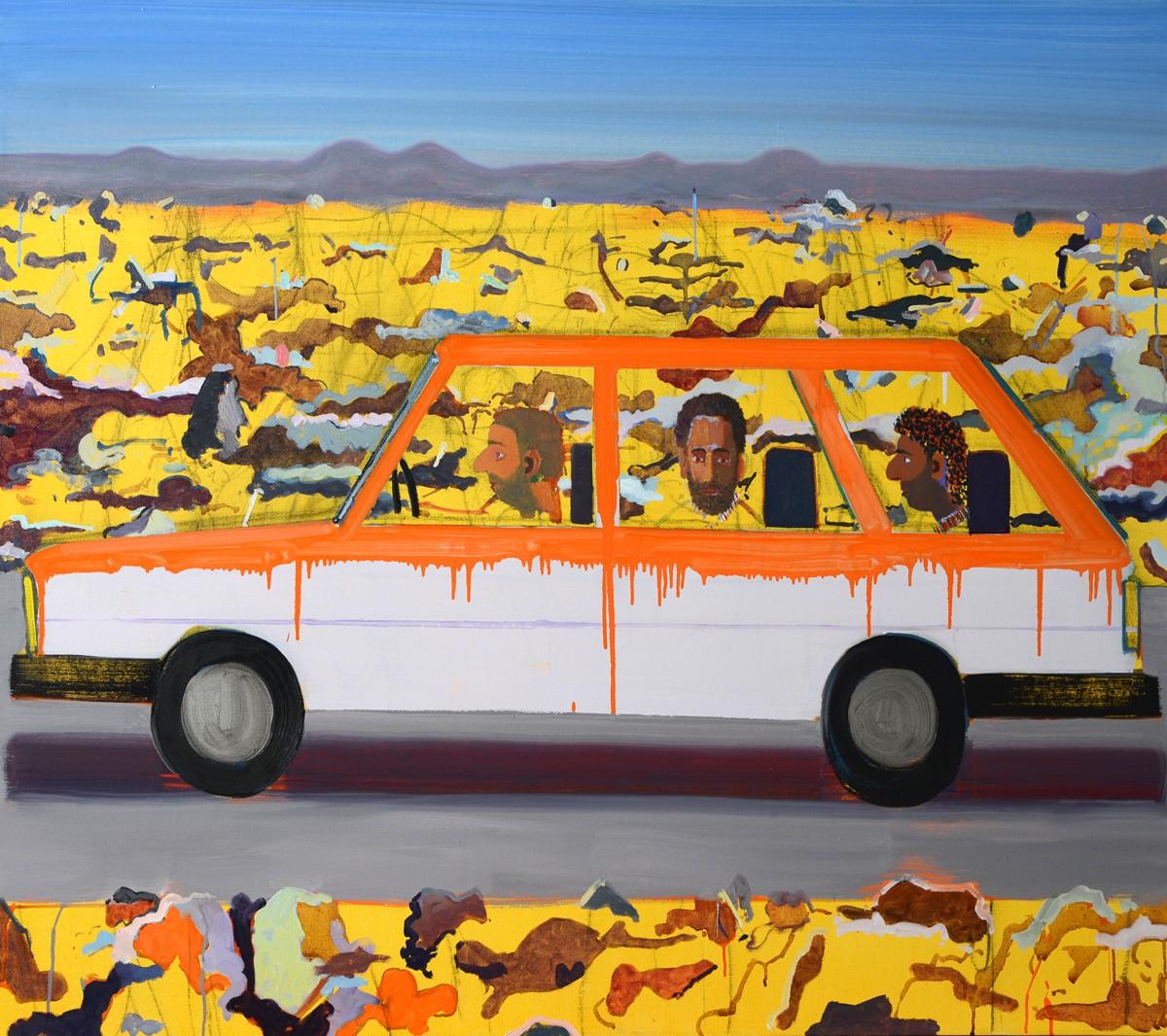 Alon Kedem, Hamudi Tours, 2018, Oil on canvas, 110x130 cm, $7,500
