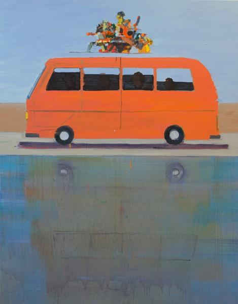 Alon Kedem, Travel , 2019, Oil on canvas, 160x120 cm-469x600