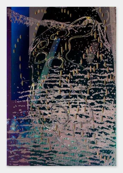Darren Goins, 031r, 2014, acrylic urethane on etched acrylic panel, 183x122 cm-427x600