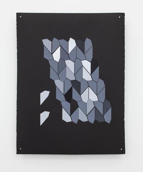 1194_8 Jan Tichy, Type 6 ,2015, Screen print, acrylic on paper, 74x57 cm (25)-499x600
