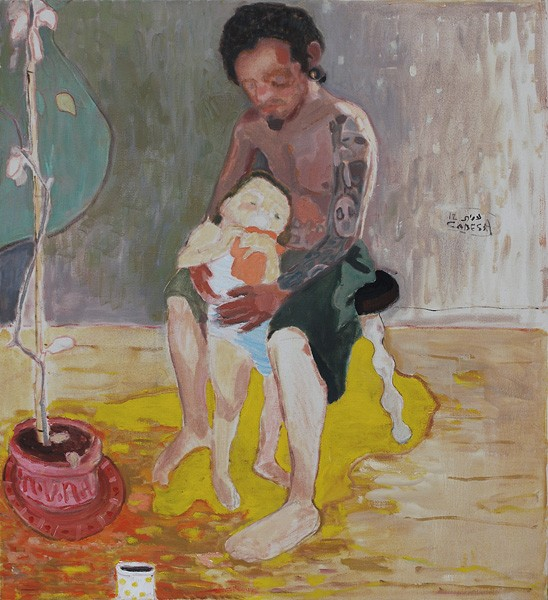 680_Amit Cabessa, Father and Son, 2012, oil on canvas, 120x110 cm website-548x600