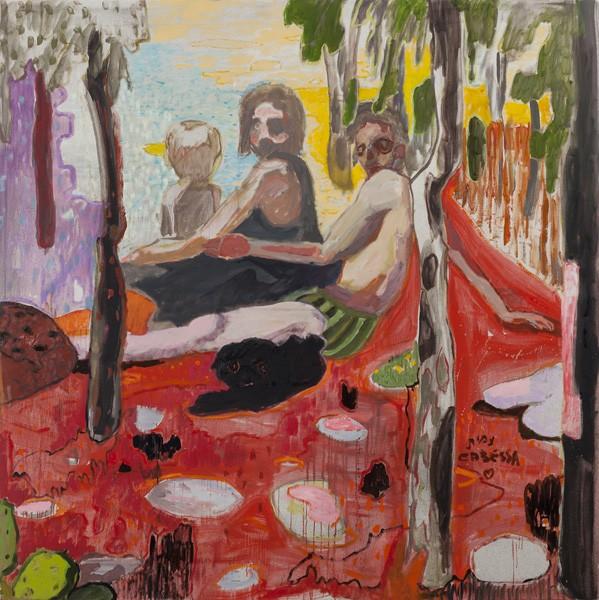 702_(1)Amit Cabessa, The Vacation, oil on canvas, 200x200 cm-599x600